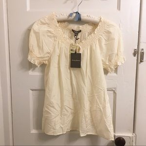 NWT Tommy Bahama sheer cotton silk blend blouse